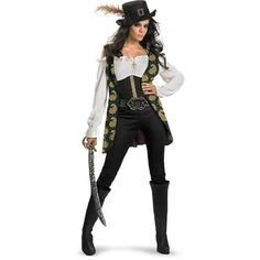 6d69371a5c Pirates of the Caribbean Angelica Adult Halloween Costume
