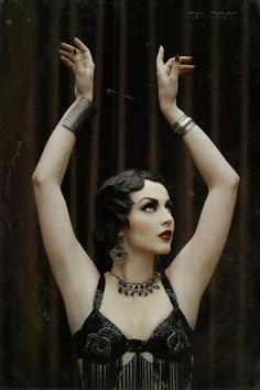 """The 1920's dancer""Photo: Maja TopčagićModel/Makeup/Hair: Aida Đapo / Idda van MunsterCostumes by Hanin Maktub (Thanks ♥)©Angelica Photography2013"