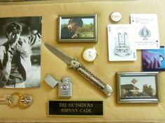 """Actual knives and other props used during the filming of """"The Outsiders."""