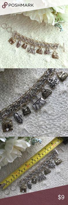 Purses✨Charm Bracelet Gold and silver tone. Jewelry Bracelets