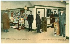 1908 postcard showing the Hudson & Manhattan Railroad tunnels at St. and Ave. Nyc, Museum, History, Postcards, Classic, Trains, Vintage, Manhattan, Ticket