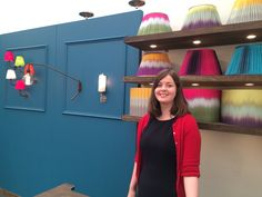 Stephanie at Copper and Silk stand at Decorex! Ptolemy Mann shades and their lights...a good collaboration!