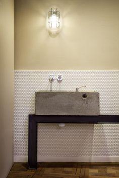 Sink detail at the Corella Meat Shop, Barcelona. Sandra Tarruella Interior Design. Photo Meritxell Arjalaguer.