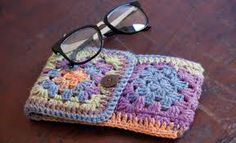 free crochet eyeglass case - Google Search