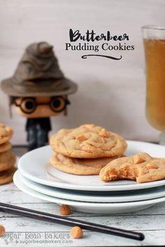 "Sugar Bean Bakers: { Butterscotch ""Butterbeer"" Pudding Cookies }"