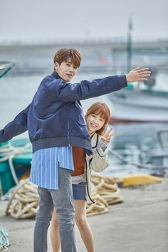 "Park Hyung Sik & Park Bo Young on the set of ""Strong Woman Do Bong Soon"""