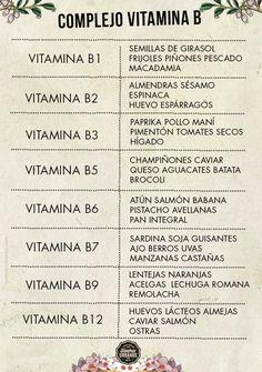 Vitamina B para períodos sanos - Tantras Urbanos #heatlh #body #vitamins