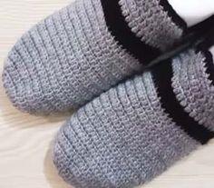 Tığ İşi Erkek Patik Modeli Yapımı Slippers, Model, Scale Model, Slipper, Models, Template, Flip Flops, Pattern