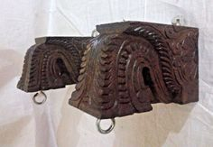 Wall Hanging Wooden Corbel Bracket Pair used for hanging lamp Diwali Home Decor Wooden Corbels, Wooden Brackets, Decorative Brackets, Decorative Items, Indian Inspired Decor, Door Design Images, India Home Decor, Porch Wood, Pooja Room Design