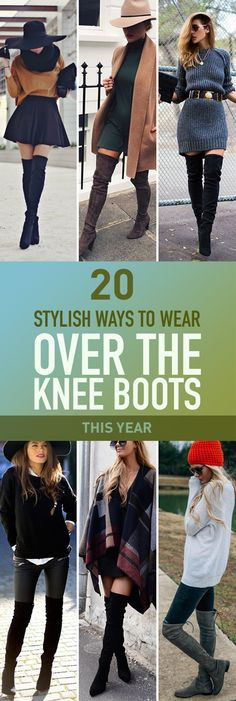 Over the knee boots are all the craze in fashion this season everyone is wearing them celebrities included. They're so elegant and perfectly fit the season. So don't fall behind the trend take a look at these stylish ways to wear your over the knee boots.