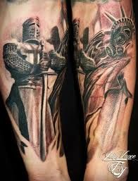 knight forearm tattoo - Google Search