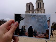 "The Notre Dame Cathedral. | This Guy Went Out And Found Real Life Locations From ""Assassins Creed"""