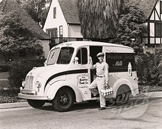 Milk delivered to your home! 50's and 60's. We had milk delivered in brown bottles; we'd leave them on the front porch in the metal carrier.