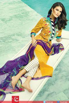 Sania Maskatiya Lawn Collection 2015 by AlKaram Studio