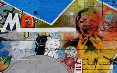 Remembering Nelson Mandela on a Christchurch wall