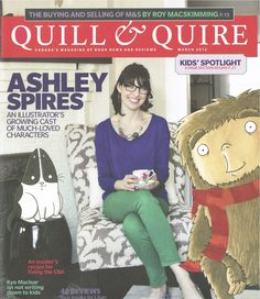 Amazing #youngCanLit author and illustrator Ashley Spires