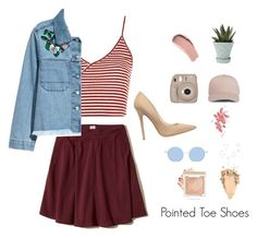 """""""Pointed Toe Shoes"""" by milk-lips ❤ liked on Polyvore featuring Hollister Co., Topshop, H&M, Jimmy Choo, Chive, Fujifilm, Burberry, Chanel and Umbra"""