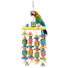 Colorful Swing Bird Rope Cage Hanging Parrot Toys Parakeet Budgie Bird Chew Toy