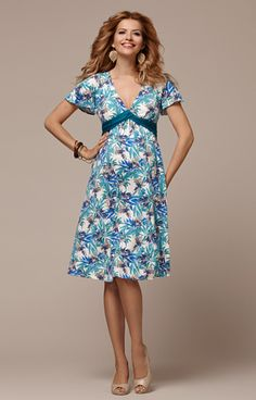 Lizzy Maternity Dress Short Blue Nile by Tiffany Rose
