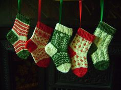 This would be a cute use for the baby's first socks.  Christmas stocking ornaments