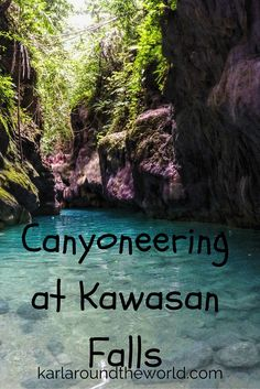 Canyoneering adventure, beautiful gorge and fantastic waterfalls in Cebu, Philippines. A thrilling adventure indeed.