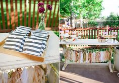 Backyard summer engagement party | photo by Connie Dai Photography | 100 Layer Cake
