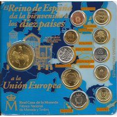 Cartera oficial España 2003. Bienvenida a la UE.