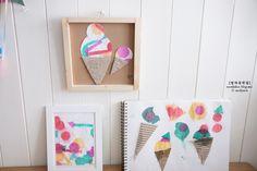 종이 물들이기 놀이, 액자 만들기~ 유아미술, 아동미술, 엄마표미술놀이