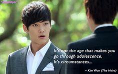 The Heirs / Inheritors quotes   Choi Jin Hyuk as Kim Won