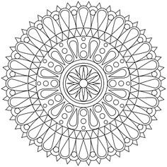 Dont Eat the Paste: New Mandala Coloring Page. Discovered by www.OCchildTherapy.com #mandala #arttherapy