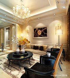 Incroyable Chandelier Living Room Living Room Chandelier Decorated Showroom