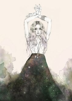 Midnight Sisterhood sorceress  by melissabaileyboo, via Flickr