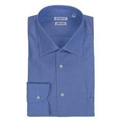 Shirts - GIODI'S - Camicia in cotone doppio ritorto, vestibilità regolare - Azzurro. €26,00. #hallofbrands #hob #camicia #shirt
