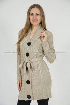 Shops, Large Buttons, Women's Sweaters, Knitting, Submissive, Coat, Unique, Jackets, Image
