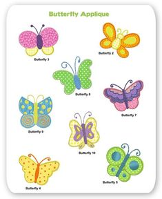 Butterfly Embroidery Applique Designs Butterflies Animal Spring Garden
