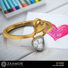 Rhonda Hearts Diamond Ring #zaamordiamonds #diamondring #diamondrings #heartring #heartrings #lovering #loverings #valetinesdaygift #valentinesjewelry #valentinesgift #valentineoffers