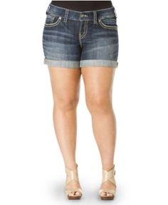 Silver Jeans Plus Size Shorts, Suki Shorts - Summer Vacation Shop - Plus Sizes - Macy's