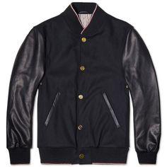 Thom Browne Varsity Jacket (Navy & Black)