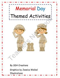 Memorial Day Themed Activities from Celebrate First Grade on TeachersNotebook.com (19 pages)