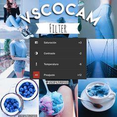 Este otro filtro me lo pidió @belagalarza_ da de igual manera un lindo toque a las fotos con azul. E - vscofiltersfeed