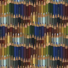 colored pencils - dark by weavingmajor, click to purchase fabric