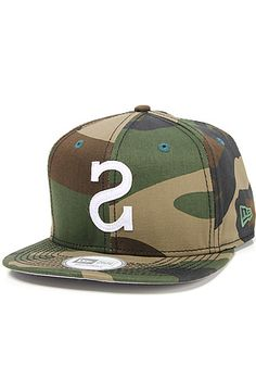 The Big S Snapback in Camo by Society Original Products use rep code: OLIVE for 20% off