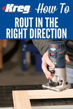 How To Rout in the Right Direction   Learn how to use a router safely and get great results with a simple tip that ensures you're always moving the router in the right direction.
