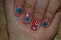Nail art ! Nail design ! Manicure ! Flower nails ! Summer nails !