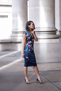 Mariko Kuo in Ted Baker at the Royal Exchange, London