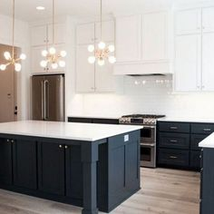 Home Decoration Green 42 What You Must Know About Creative Kitchen Cabinet Ideas Trend in 2019 - homevignette.Home Decoration Green 42 What You Must Know About Creative Kitchen Cabinet Ideas Trend in 2019 - homevignette Black Kitchen Cabinets, Black Kitchens, Home Kitchens, Black Kitchen Island, Kitchen Sinks, Kitchen Cabinet Color Schemes, Upper Cabinets, White Cabinets, Home Decor Kitchen