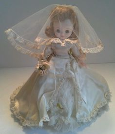 """American Character Betsy McCall Doll Tiny 8"""" Bride Doll #BetseyMcCall listed on ebay by my estate sale friends Jenny and Dave."""