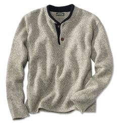Just found this Mens Wool Pullover Sweater - Two-Button Wool Pullover Sweater -- Orvis on Orvis.com!