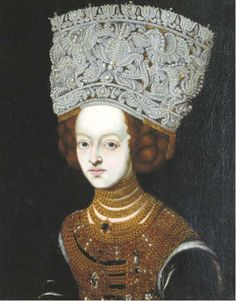 Spanish School, Century Portrait of a lady with an elaborate jewelled headdress European marriage portrait of a young noblewoman, with bejewelled bodice and elaborate pearl headdress (circa Art History Timeline, Art History Major, Art History Memes, Art History Lessons, History Tattoos, History Projects, History Books, History Facts, Historical Art