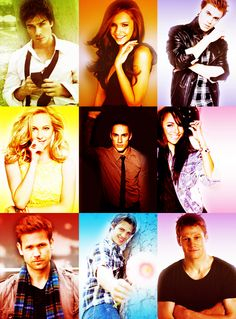 The Vampire Diaries' Damon, Elena, Stefan, Caroline, Tyler, Bonnie, Alaric, Jeremy, and Matt
